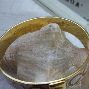 Coach Jewelry - SOLID Plated COACH Logo BANGLE Bracelet